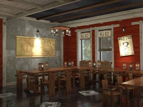 Ресторан для байкеров. Интерьер в ритмах Peter Green