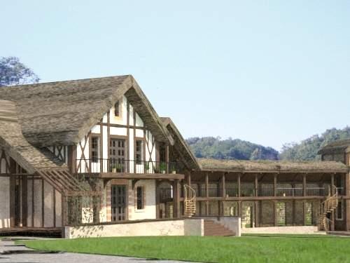 Усадьба в стиле деревни королевы Марии Антуанетты