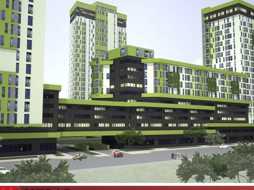 Голосеево. Жилой комплекс вместо промзоны в Киеве