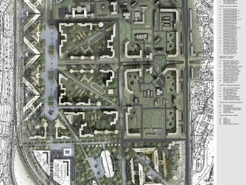 Генеральный план реконструкции Соцгородка в Киеве с заменой кварталов устаревшего жилого фонда