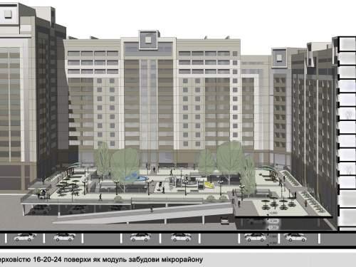 Замена кварталов устаревшего жилого фонда в Киеве. Подземные паркинги в составе новой застройки