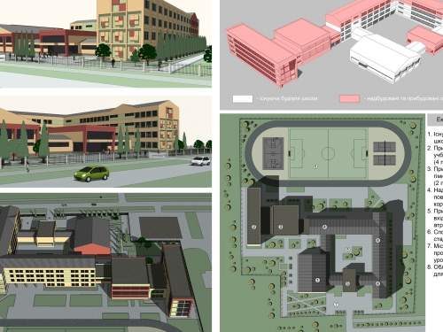 Реконструкция существующей школы в условиях уплотнённой городской среды Киева