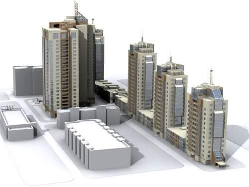 Жилой комплекс в начале Бориспольского шоссе